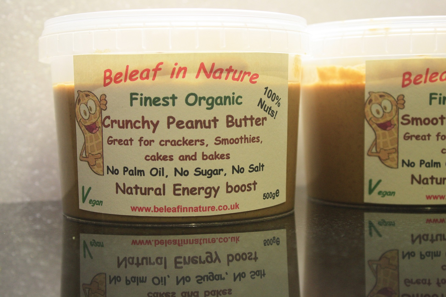 Organic Crunchy Peanut Butter - Beleaf in Nature, Superfoods and Slow Juicers